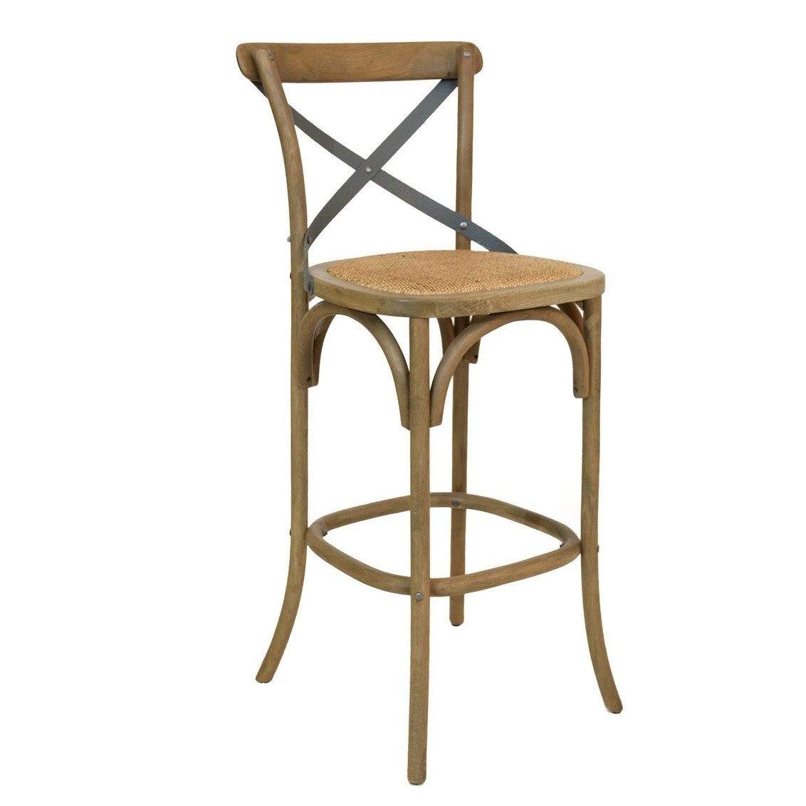 Beau Furniture Classics Bentwood Bar Stool With Metal Back 70025DW
