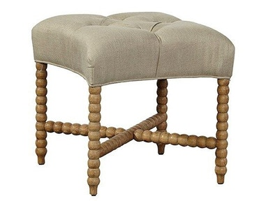 Furniture Classics Tufted Linen Stool 70944