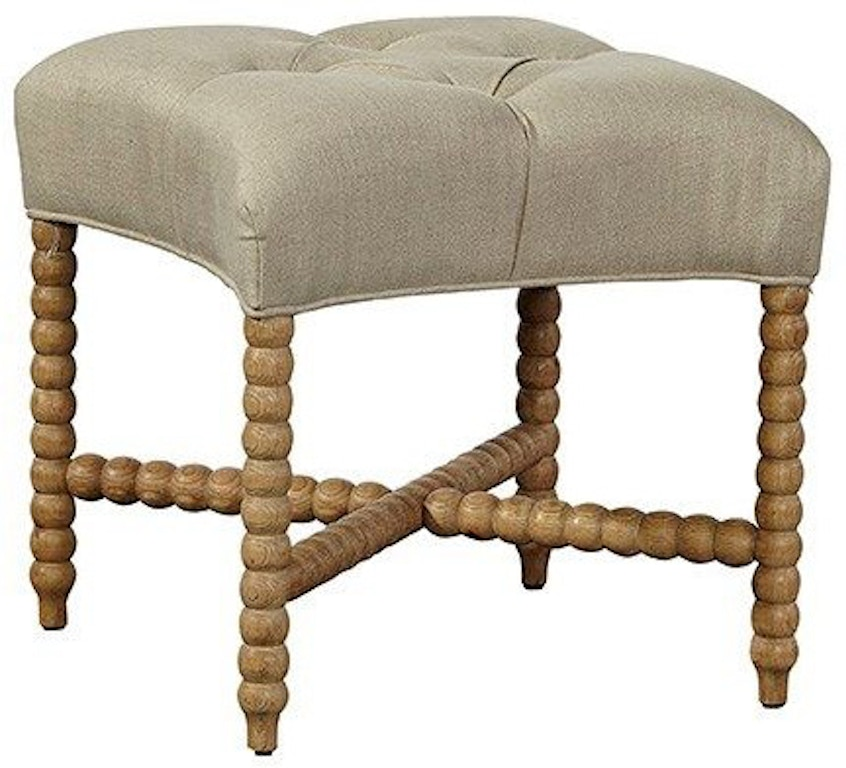 Miraculous Furniture Classics Living Room Tufted Linen Stool 70944 Camellatalisay Diy Chair Ideas Camellatalisaycom