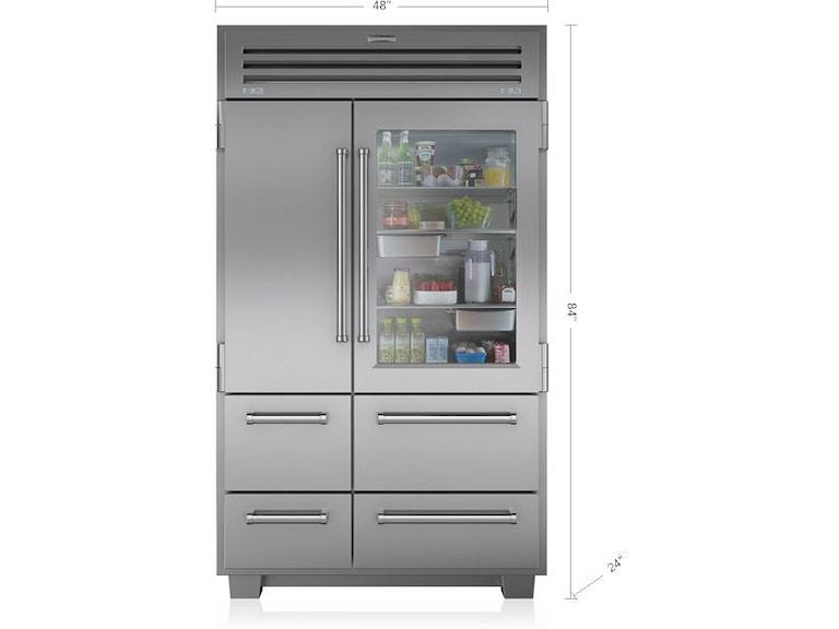 Sub Zero Kitchen 48 Refrigerator With Glass Door 648prohag