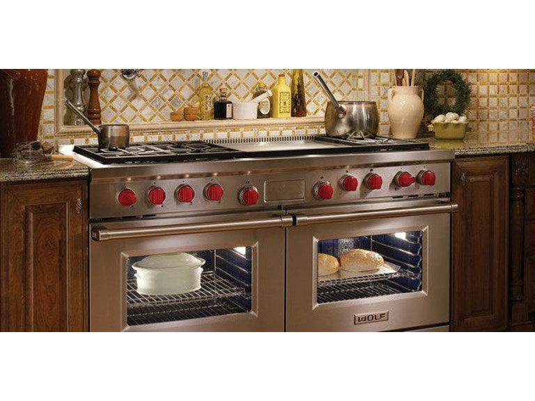 Wolf Kitchen 60 Gas Range W French Top Griddle Df604gf Cricket S Home Furnishings Dimondale Mi