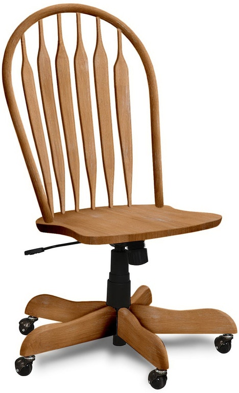 John Thomas Home Office Deluxe Steambent Windsor Desk Chair 1206d2 American Oak And More