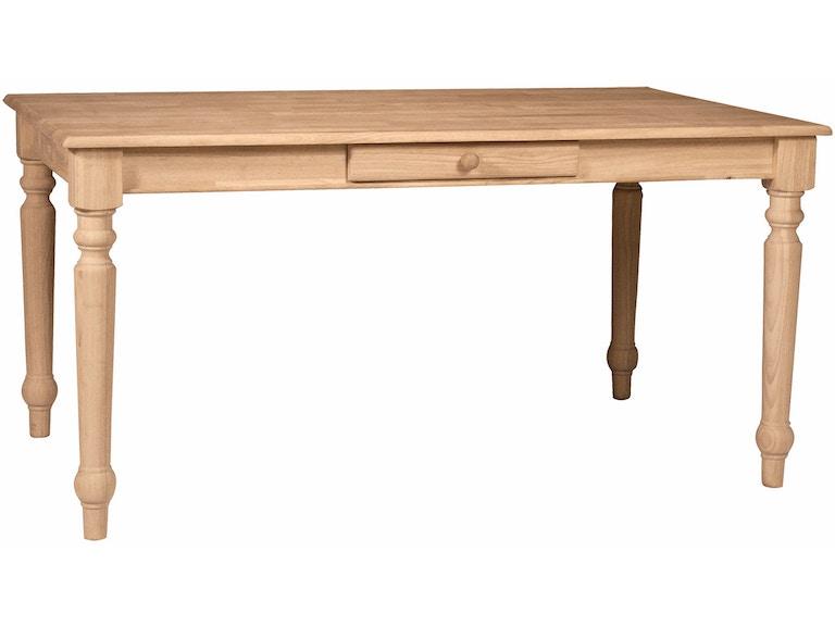 John Thomas Solid Top Farmhouse Table 3660t
