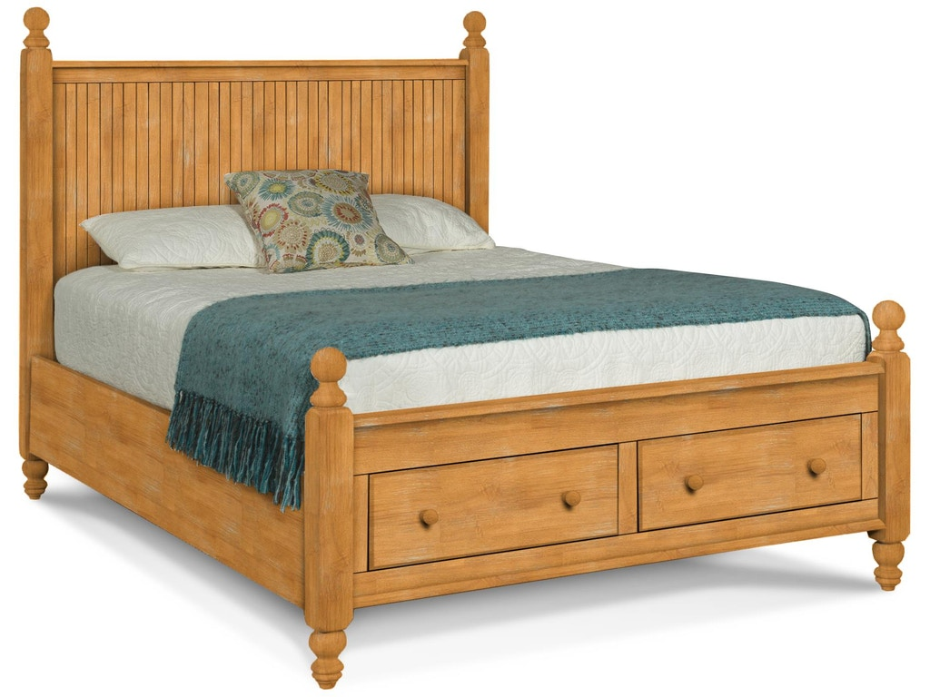 John Thomas Bedroom Queen Cottage Storage Bed Headboard Footboard Drawers And Storage Bed