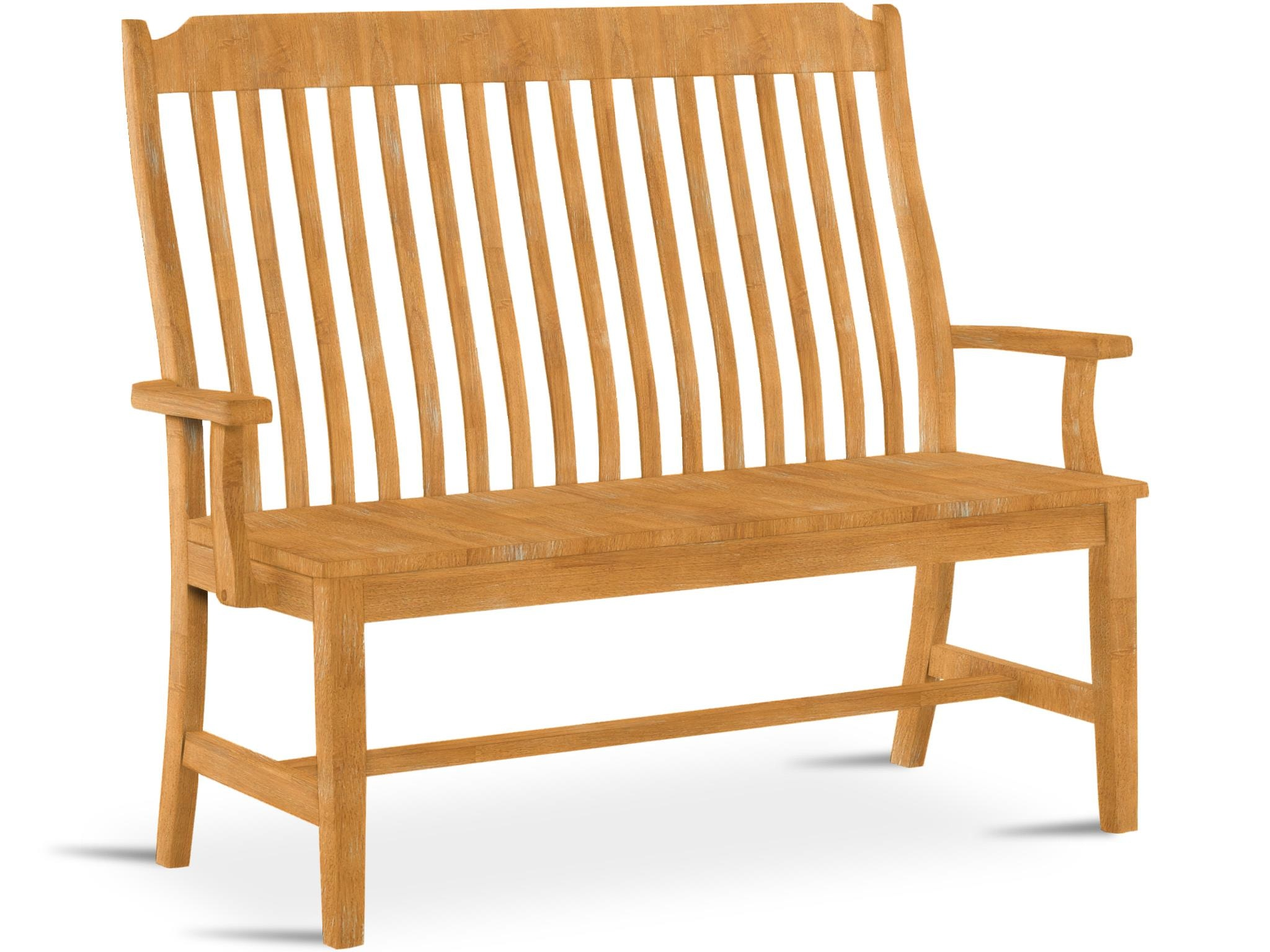John Thomas Steambent Mission Bench W/ Arms BE 45A