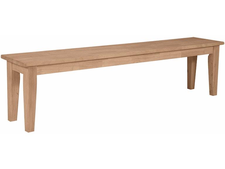Astounding John Thomas Dining Room 72 Farmhouse Shaker Bench Be 72S Ncnpc Chair Design For Home Ncnpcorg