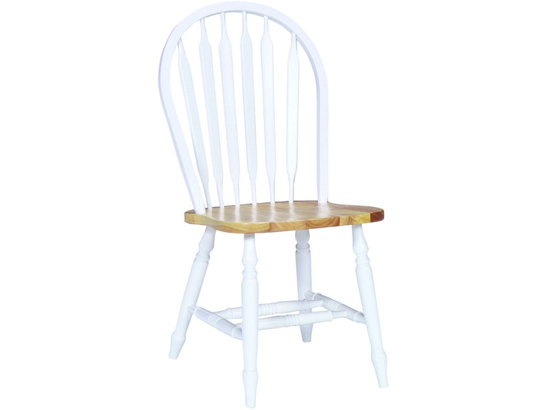 Awesome John Thomas Dining Room Arrowback Chair In White Natural Pdpeps Interior Chair Design Pdpepsorg