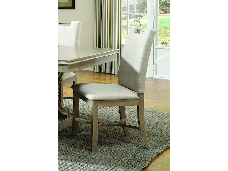 John Thomas Dining Room Parson Chair In Taupe Gray C09 25 Mills
