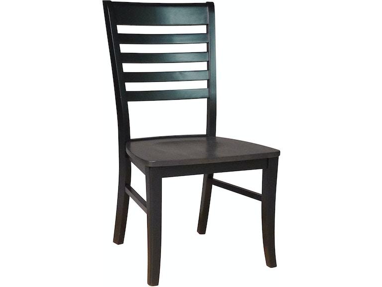 John Thomas Dining Room Roma Chair In Coal Black C75 310b Mills