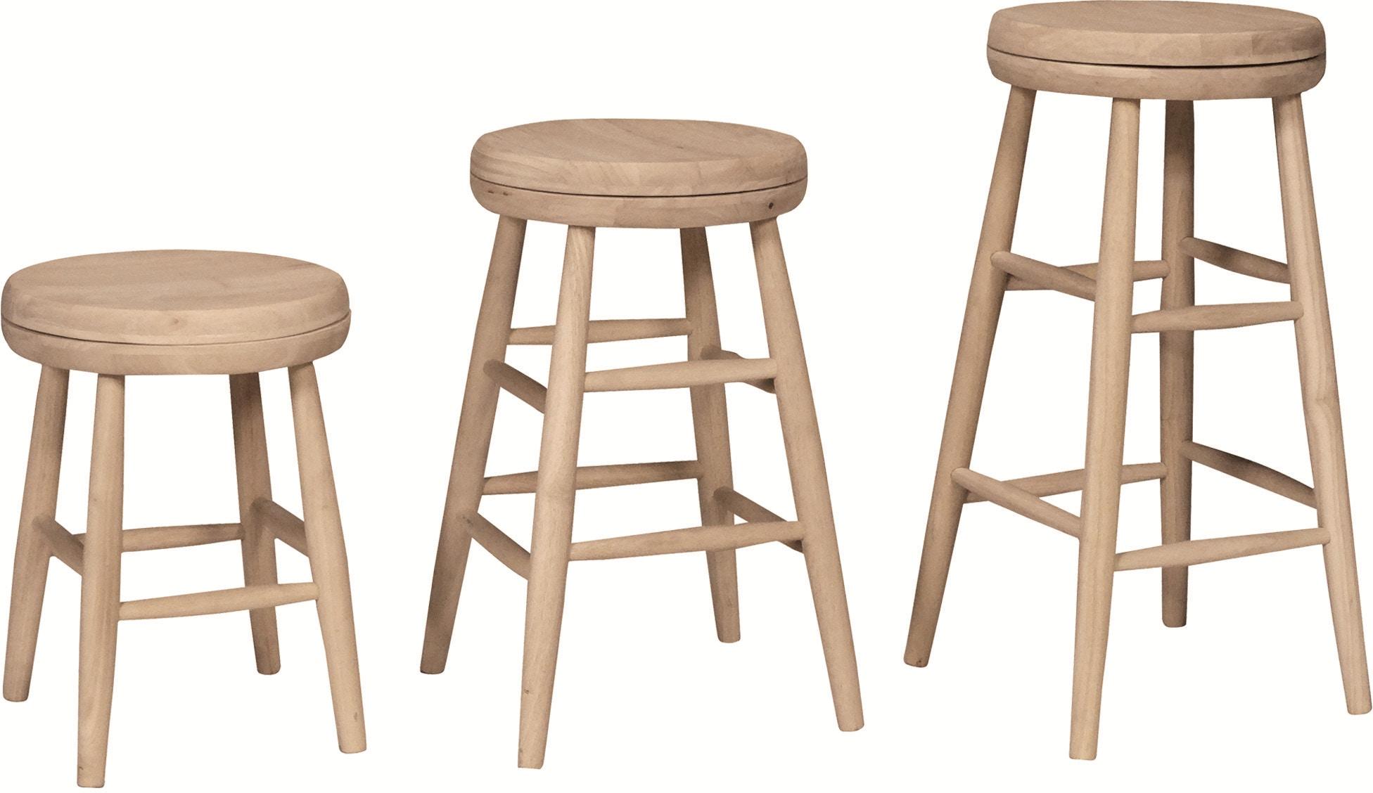 John Thomas Bar And Game Room Scoop Seat Swivel Stools S