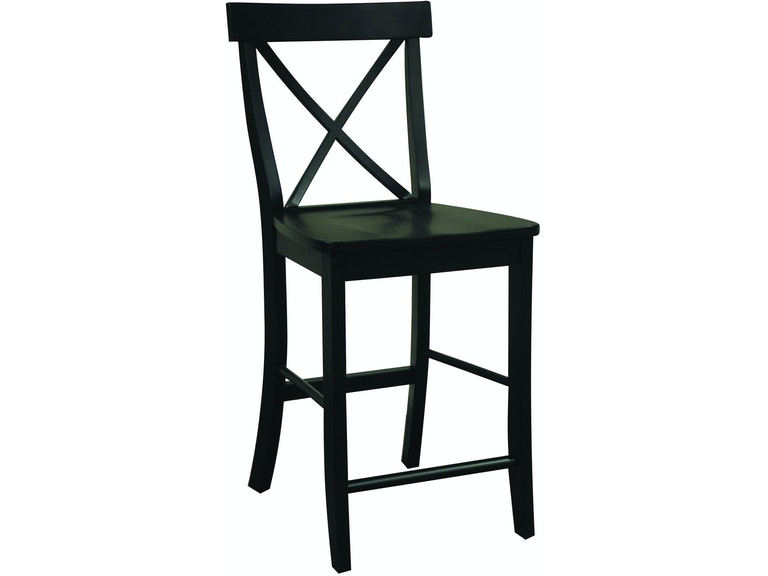 Groovy John Thomas Bar And Game Room X Back Stool In Black S46 Squirreltailoven Fun Painted Chair Ideas Images Squirreltailovenorg