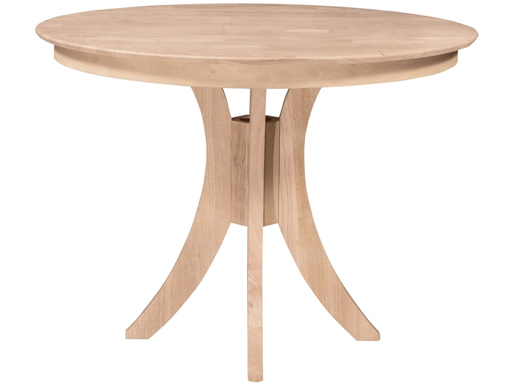 John thomas dining room sienna 48 39 39 round gathering table for Dining room table 36 x 48