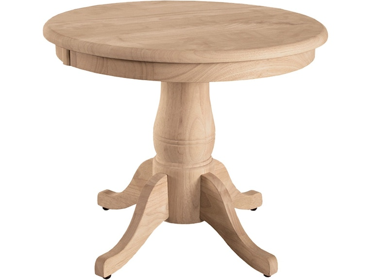 John Thomas Dining Room Round Table 18 Traditional Pedestal T