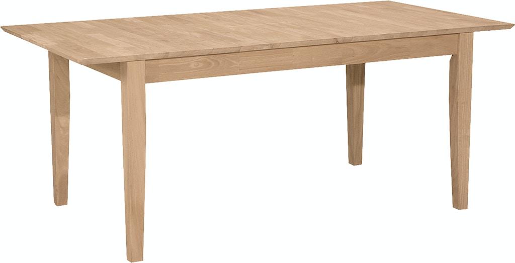 T 3660xbs Erfly Leaf Extension Table W Shaker Leg