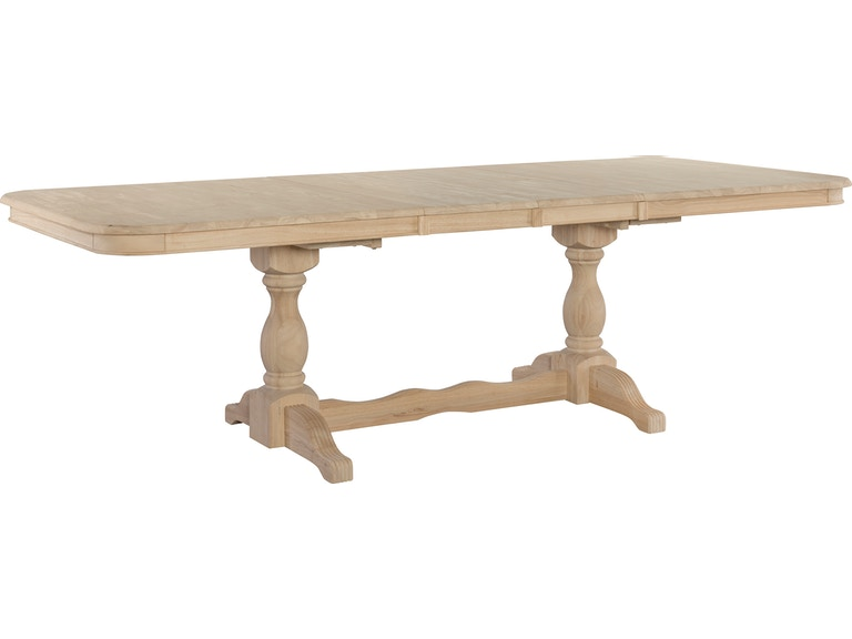 John Thomas Dining Room Double Butterfly Leaf Table Top Only Double Pedestal Base T 4268xbt