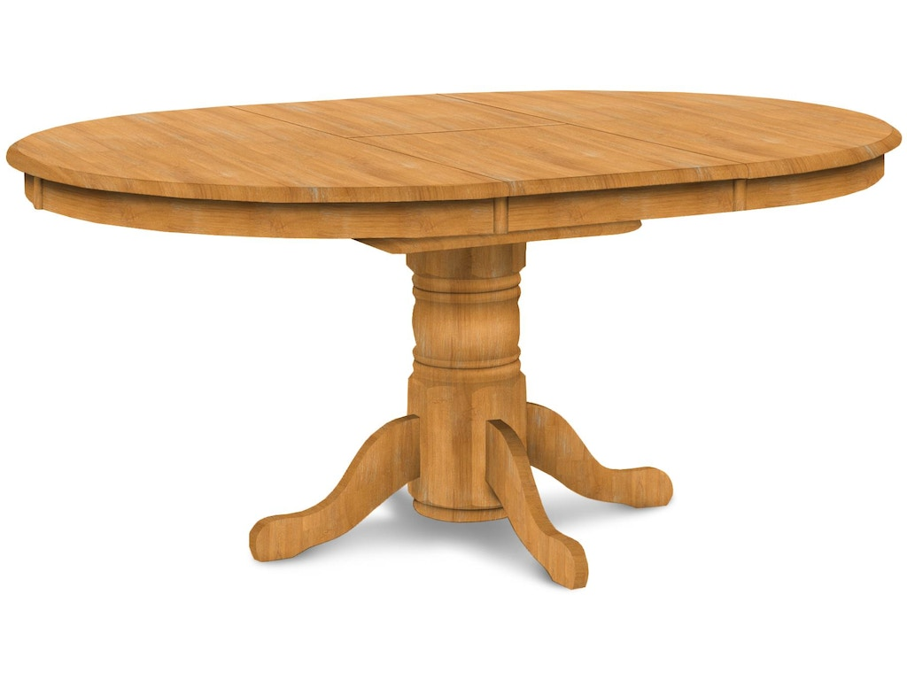 John Thomas Dining Room Butterfly Leaf Pedestal Table (top ...