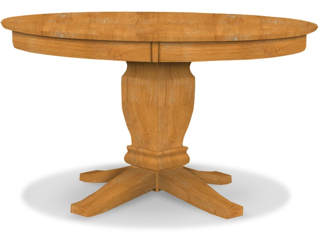 John thomas dining room round pedestal table top only for Table 52 parking