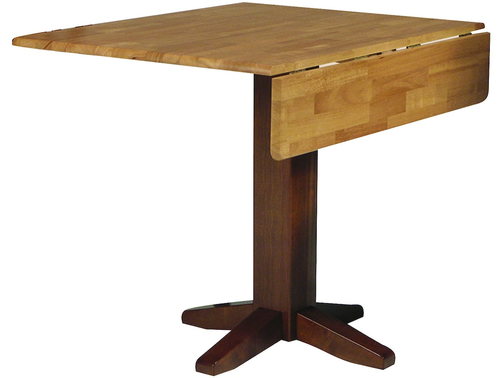 John Thomas Dining Room Square Dropleaf Pedestal Table In