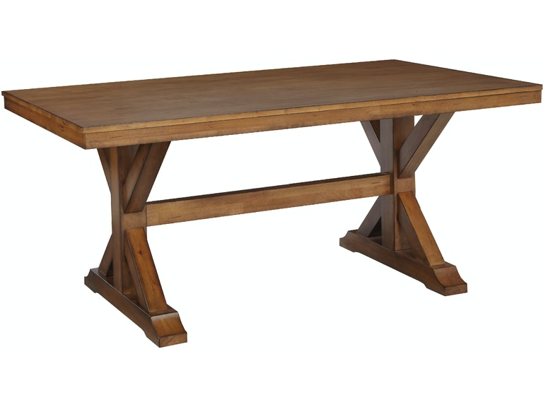 John Thomas Canyon Solid Top Table In Pecan T59 4068a 4068b
