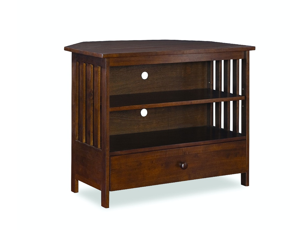 John Thomas Living Room Mission Corner Tv Stand In Espresso Tv581 27 Feceras Furniture