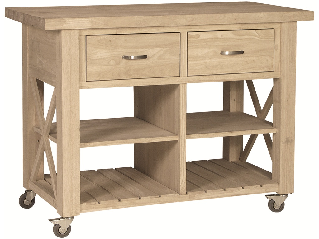 John Thomas X-Side Kitchen Island WC-12B - Rice Furniture