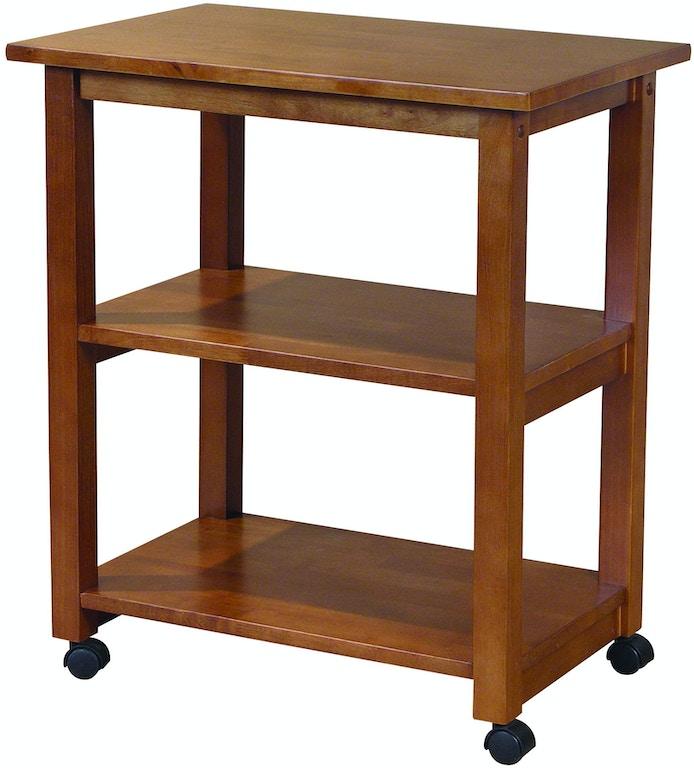 John Thomas Kitchen Microwave Cart in Oak WC04-185 - Carol ...