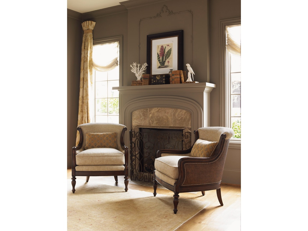 tommy bahama home living room bluffton chair 1682 11 lexington home brands thomasville nc. Black Bedroom Furniture Sets. Home Design Ideas