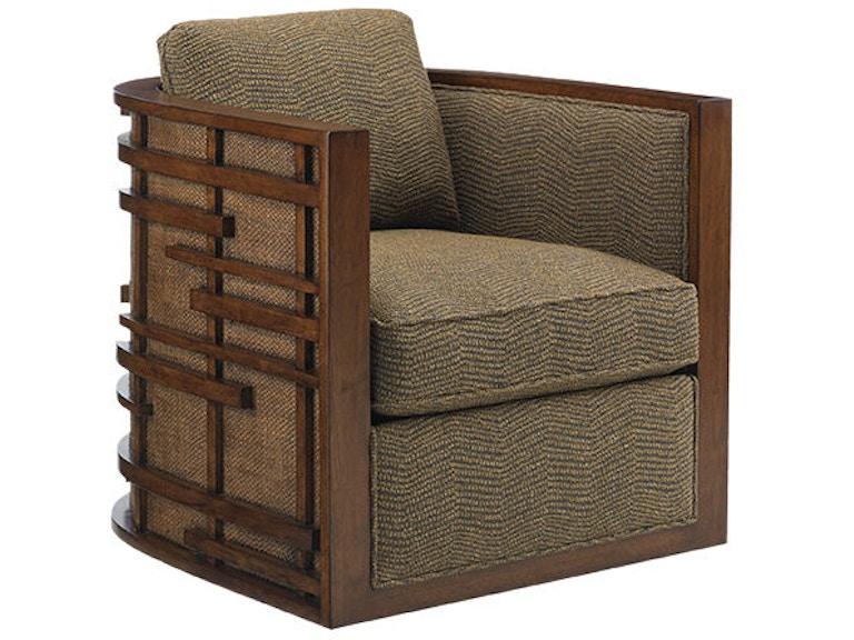 Fabulous Tommy Bahama Home Living Room Semerang Swivel Chair 1763 Machost Co Dining Chair Design Ideas Machostcouk