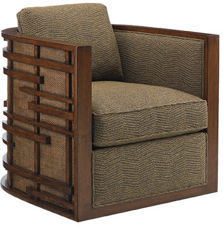 Super Tommy Bahama Home Living Room Semerang Swivel Chair 1763 Machost Co Dining Chair Design Ideas Machostcouk