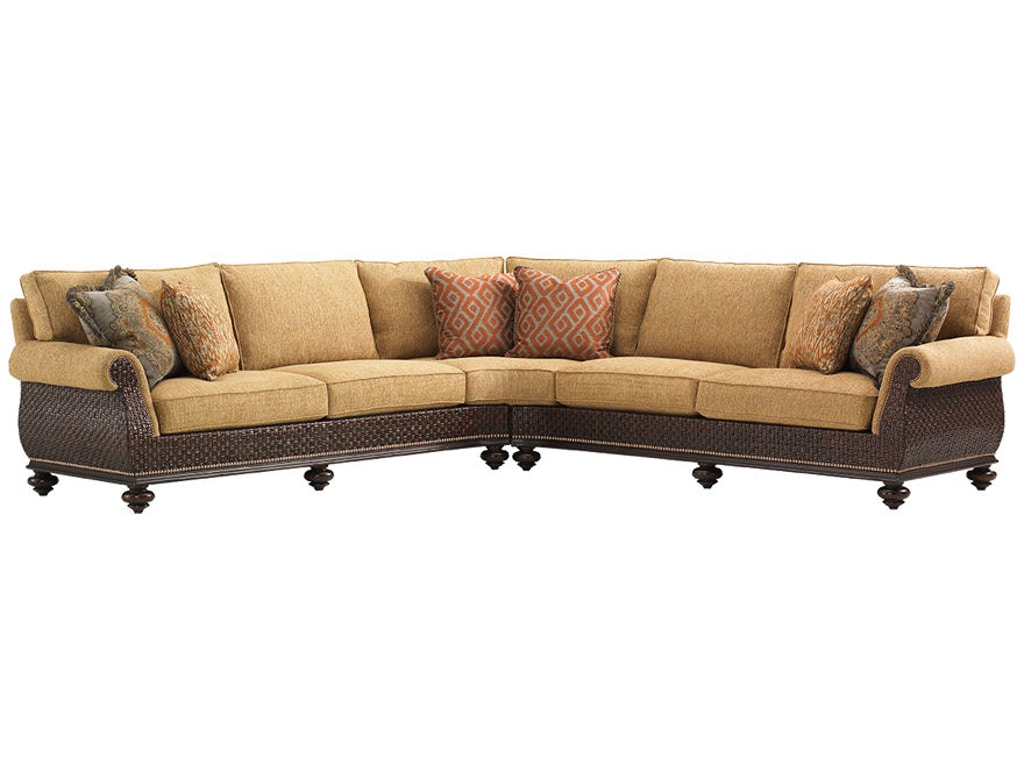 Admirable Tommy Bahama Home Living Room Westbury Sectional 1768 Machost Co Dining Chair Design Ideas Machostcouk