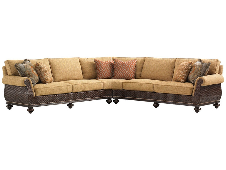 Tommy bahama home living room westbury sectional 1768 for Westbury leather sofa