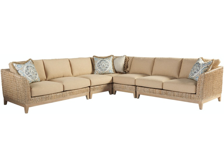Pleasing Tommy Bahama Home Living Room Brisbane Sectional 1838 Caraccident5 Cool Chair Designs And Ideas Caraccident5Info
