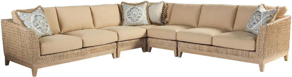 Surprising Tommy Bahama Home Living Room Brisbane Sectional 1838 Caraccident5 Cool Chair Designs And Ideas Caraccident5Info