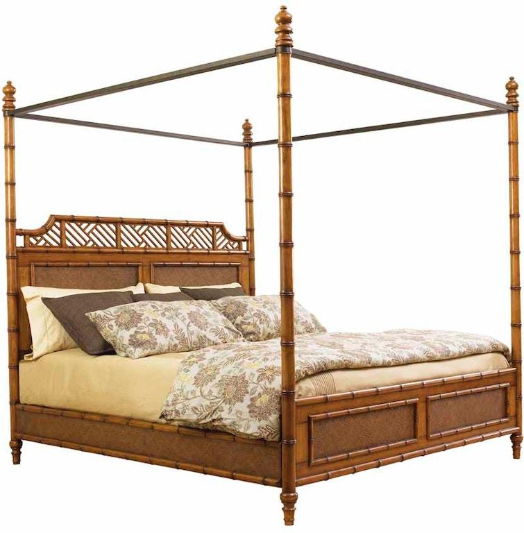 Tommy Bahama Home Bedroom West Indies 5/0 Queen Bed 531-163C ...