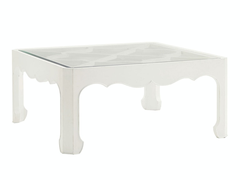 Tommy Bahama Home Cassava Cocktail Table With Glass Insert 543-947