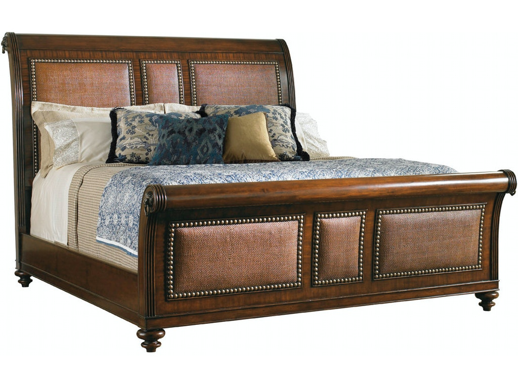 Tommy Bahama Home Bedroom Palmera 5 0 Queen Sleigh Bed 545 189c Howell Furniture Beaumont