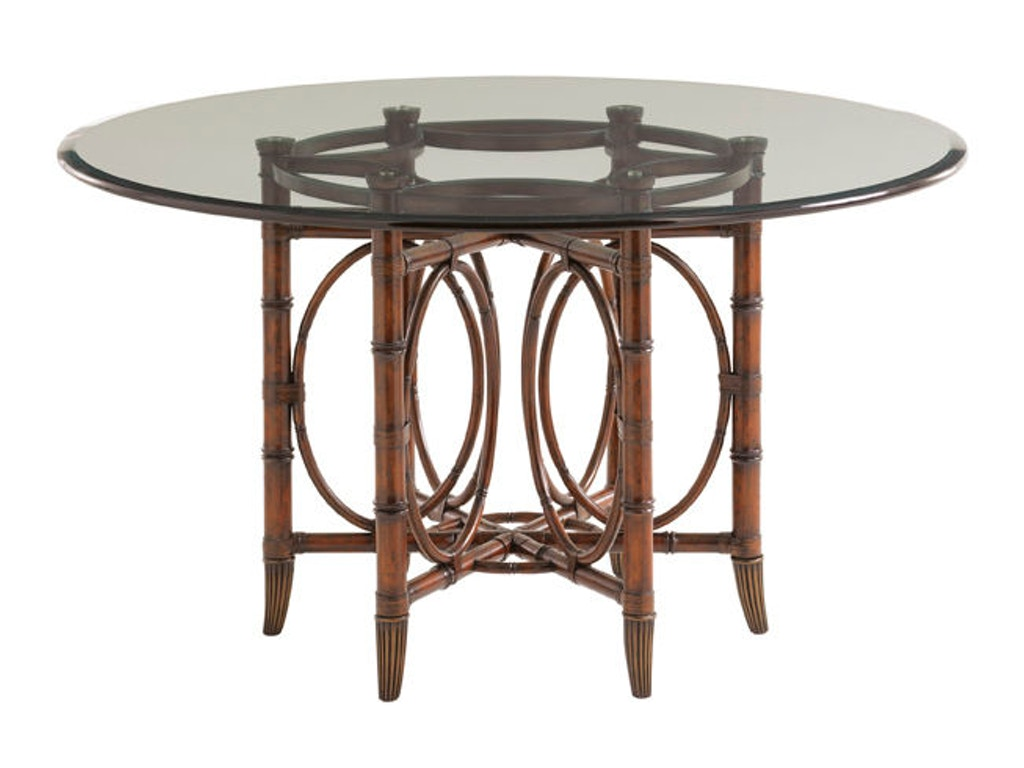 Tommy Bahama Home Dining Room Coral Sea Rattan Dining Table Base - Rattan dining room set