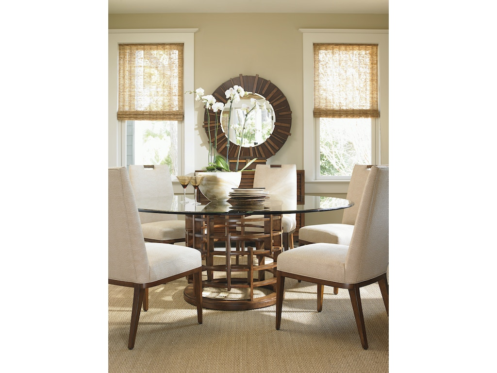 Tommy Bahama Home Dining Room Meridien Round Dining Table Base 556 ...