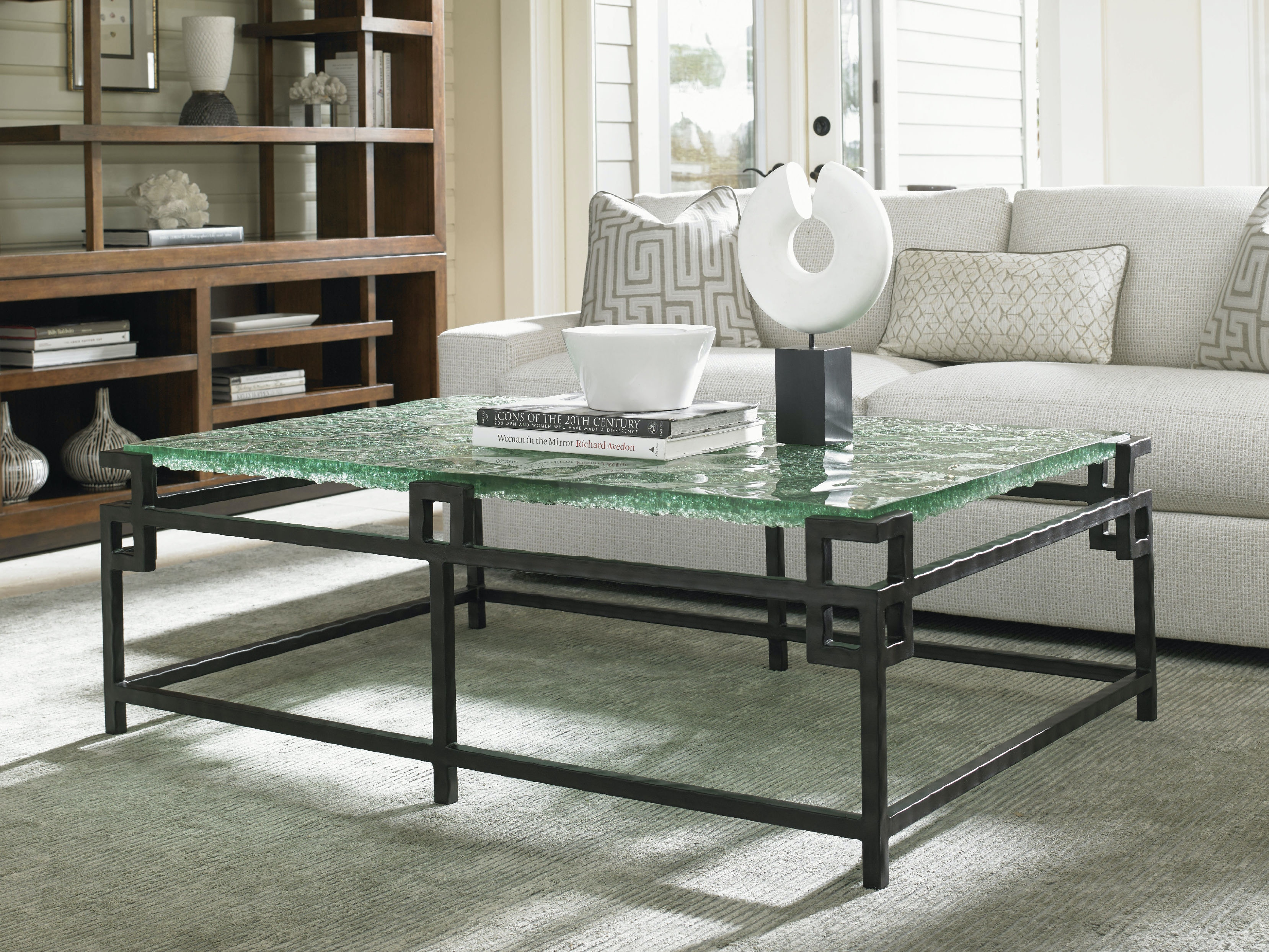 Tommy Bahama Home Hermes Reef Glass Top Cocktail Table 556 947C