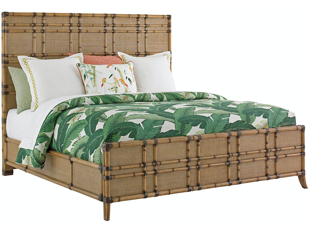 Tommy Bahama Home Bedroom Cocoa Bay Panel Bed 6 6 King 558 134c Howell Furniture Beaumont