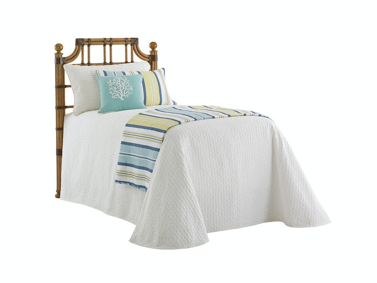 Tommy Bahama Home St. Kitts Rattan Headboard 3/3 Twin 558-141HB
