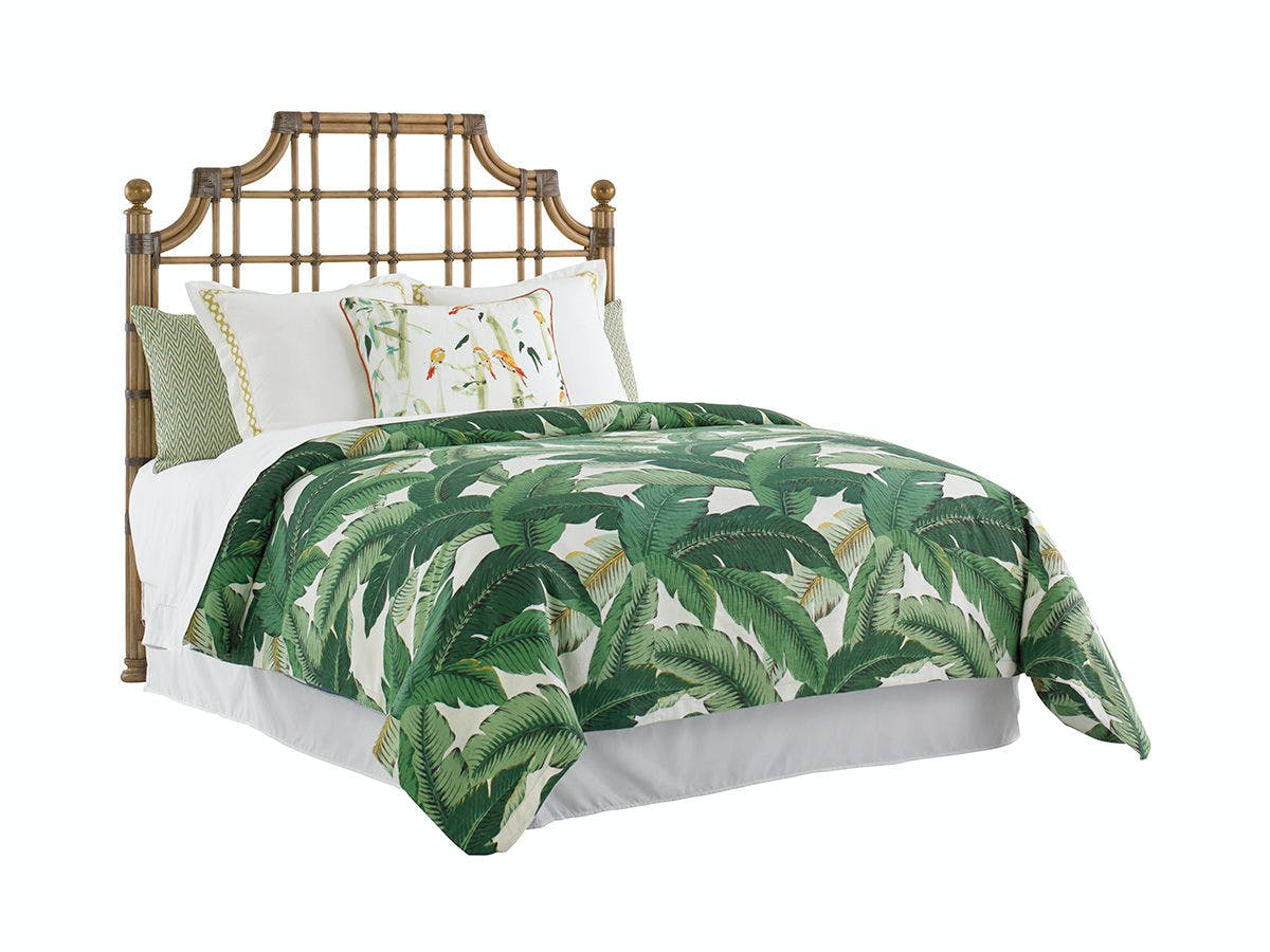 Tommy Bahama Home Bedroom St Kitts Rattan Headboard 5 0 Queen 558 143hb Art Sample Furniture