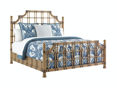 Tommy Bahama Home St. Kitts Rattan Bed 6/6 King 558-144C