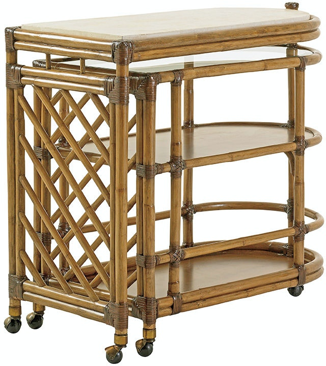 Tommy Bahama Home Bar And Game Room Cable Beach Bar Cart