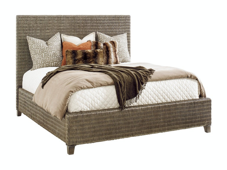 Tommy Bahama Home Driftwood Isle Woven Platform Bed 5/0 Queen 562-133C
