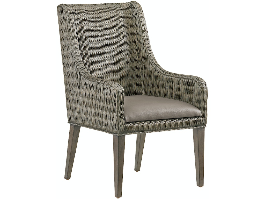 Tommy Bahama Home Dining Room Brandon Woven Arm Chair 562 883 01 Bacons Furniture Port