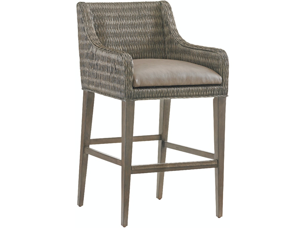 Tommy Bahama Home Bar And Game Room Turner Woven Bar Stool 562 896 01 Bacons Furniture Port