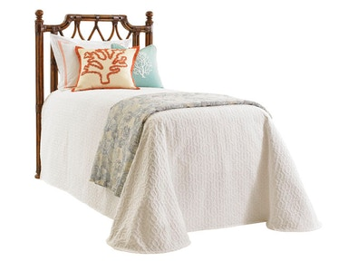 Tommy Bahama Home Island Breeze Rattan Headboard 3/3 Twin 593-131HB