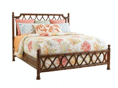 Tommy Bahama Home Island Breeze Rattan Bed 6/6 King 593-134C