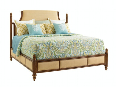 Tommy Bahama Home Orchid Bay Upholstered Panel Bed 6/6 King 593-144C
